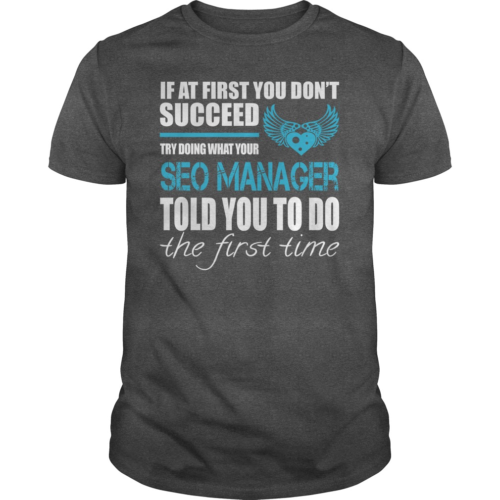 Awesome Tee For Seo Manager