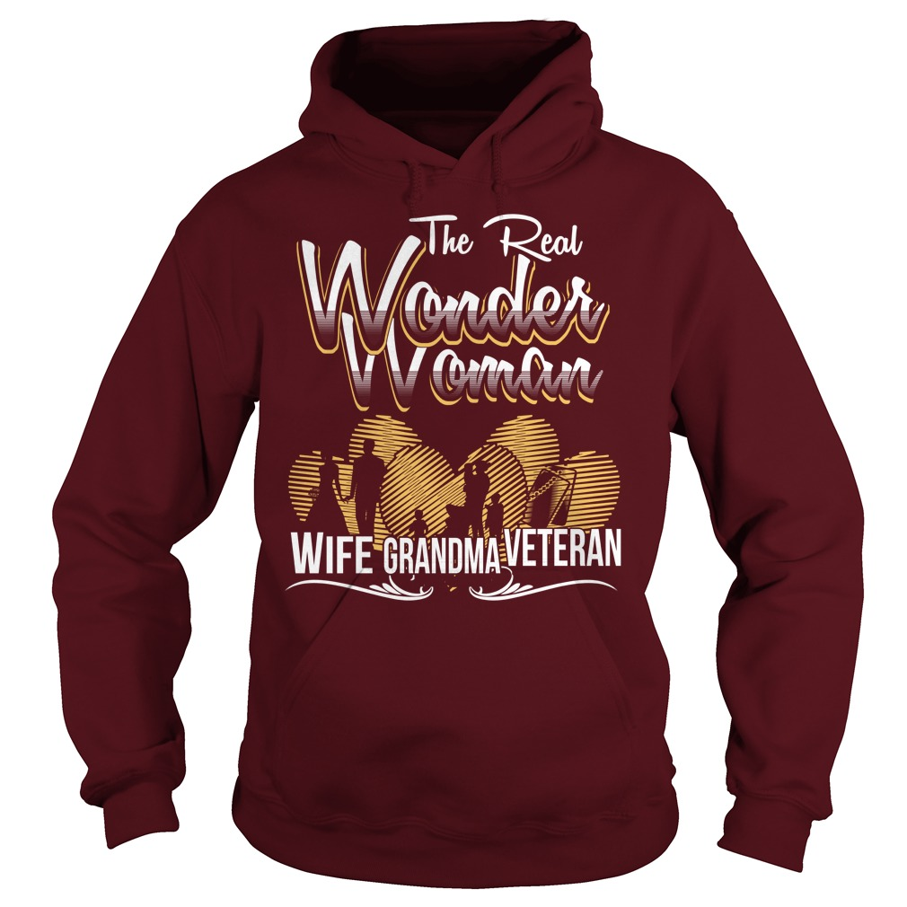 The real wonder woman veteran hoodie