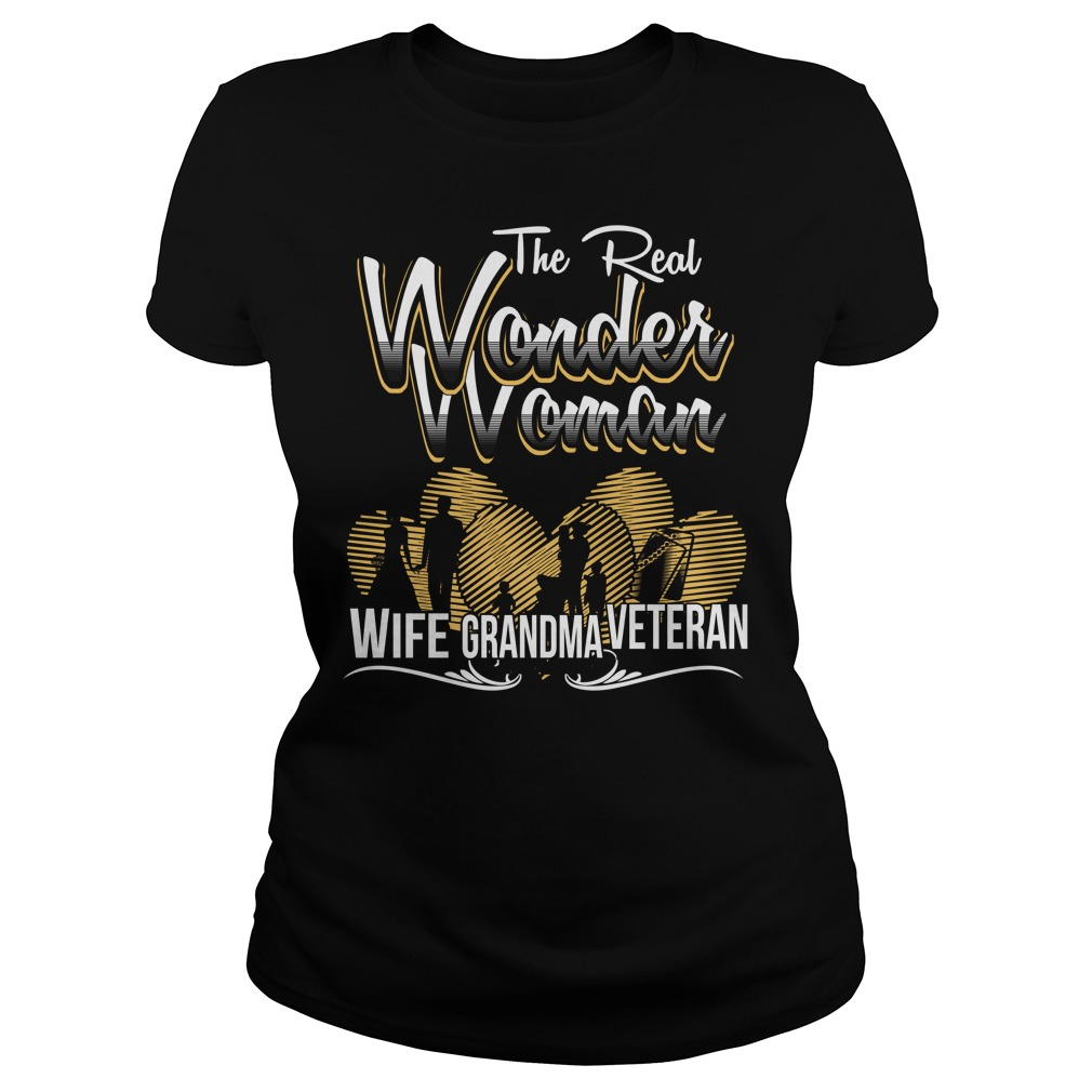 The real wonder woman veteran ladies tee shirt