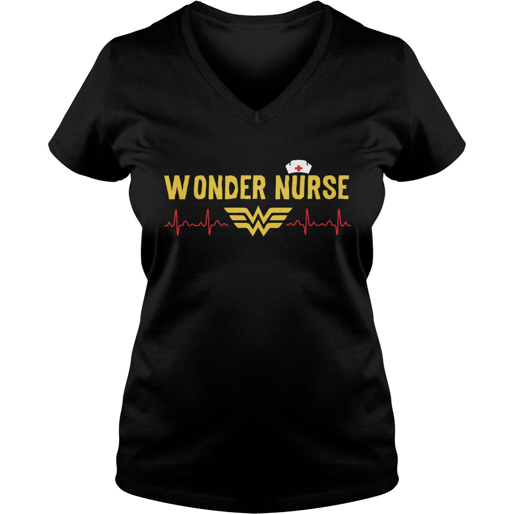 Wonder Nurse 2017 ladies v neck Shirt