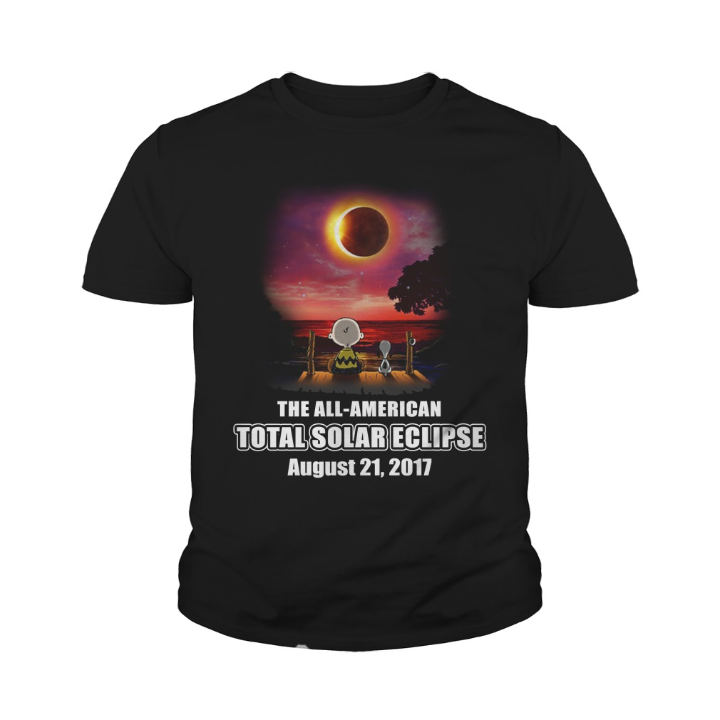 The all American total solar eclipse august 21 2017 youth tee
