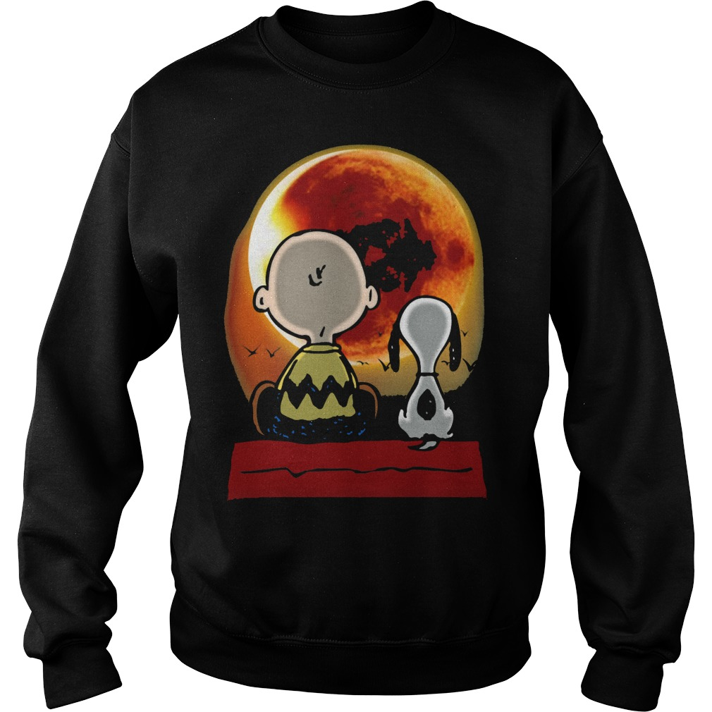 snoopy and charlie brown at solar eclipse 2017 t shirt. Black Bedroom Furniture Sets. Home Design Ideas