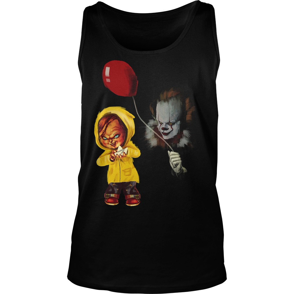 Chucky And Pennywise Halloween Shirt Hoodie Tank Top V Neck