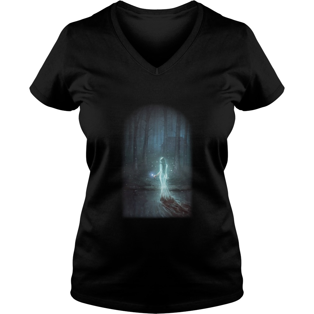 Doomed to Walk the Earth ladies v neck