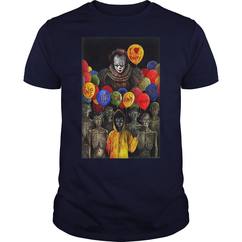 I Lerry we all float down here Pennywise guys tee