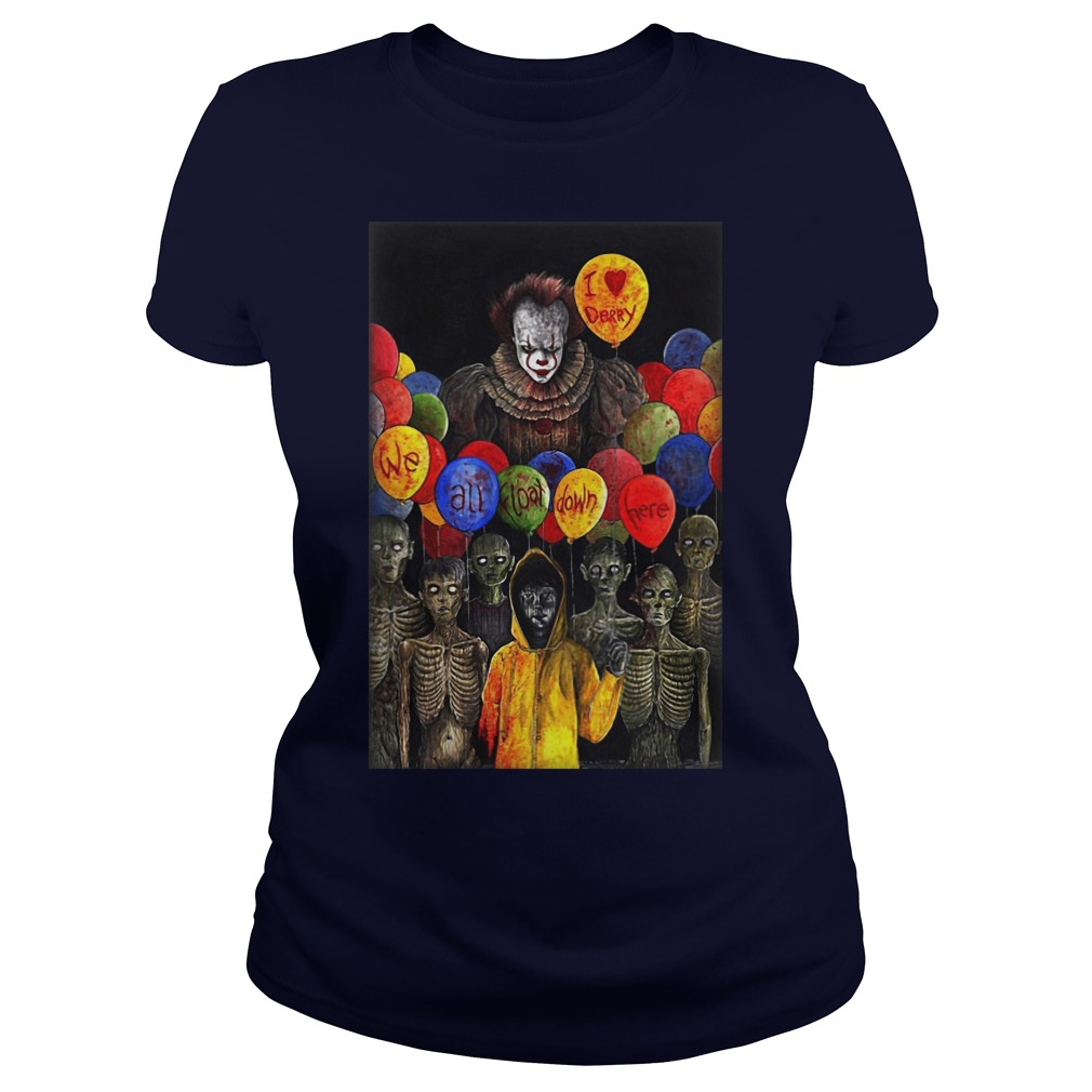 I Lerry we all float down here Pennywise ladies tee