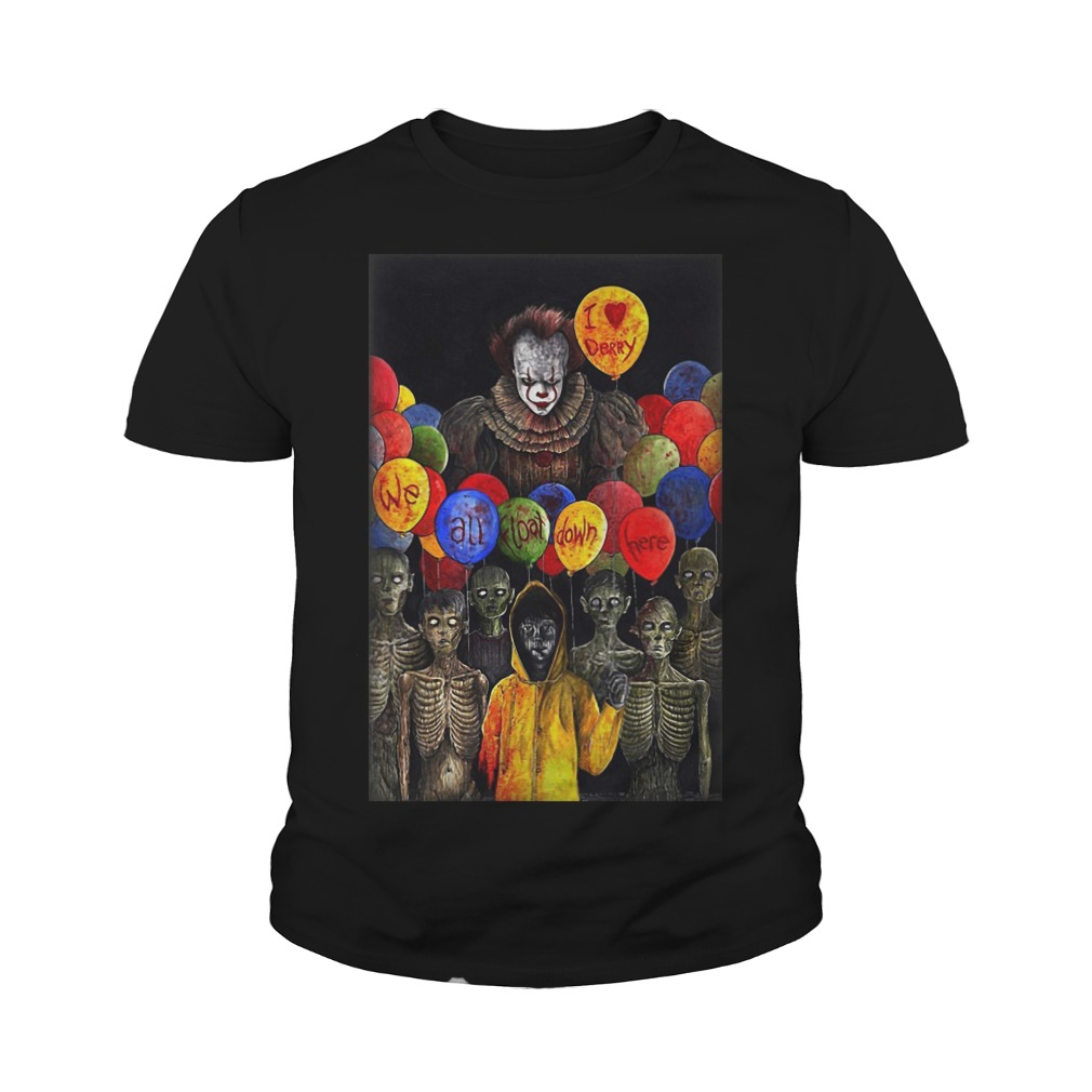 I Lerry we all float down here Pennywise youth tee