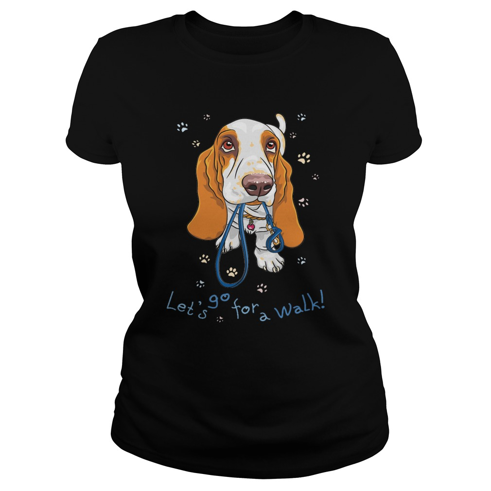 Let's go for a walk ladies tee