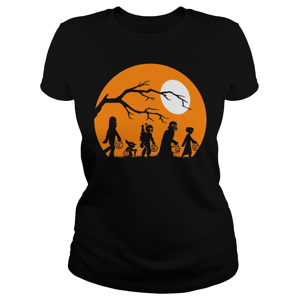 Star Wars Trickortreat Halloween Silhouette Graphic Shirt
