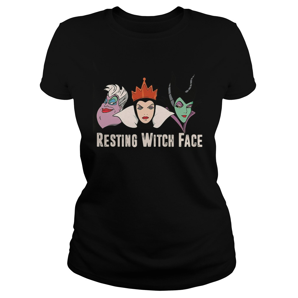2017 Disney Resting witch face ladies tee
