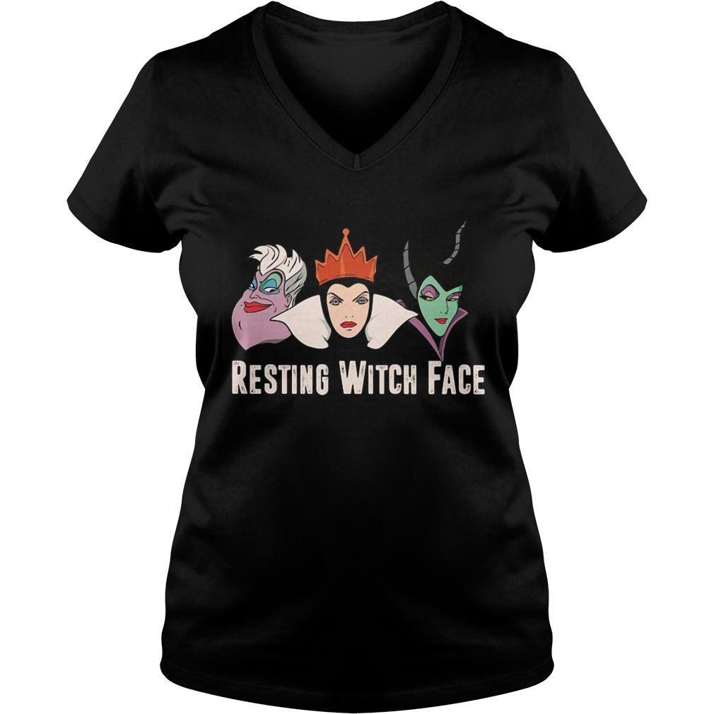 2017 Disney Resting witch face ladies v neck