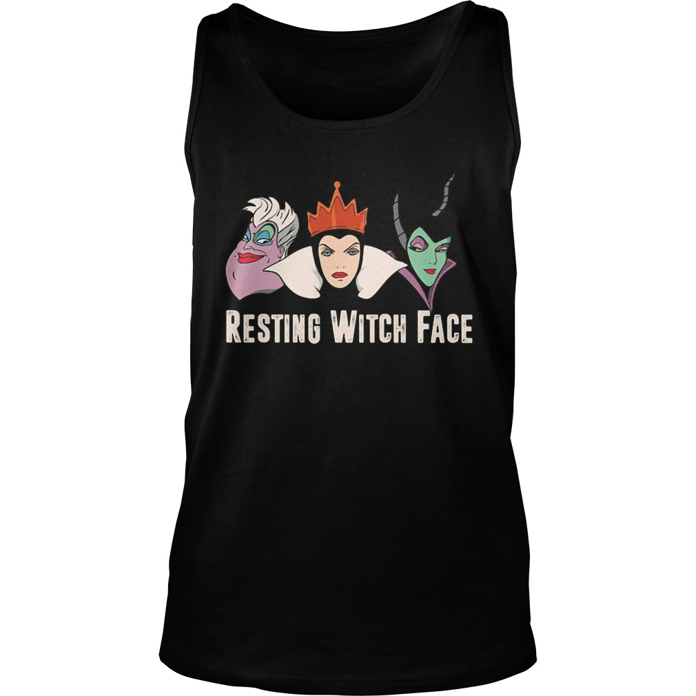 2017 Disney Resting witch face tank top