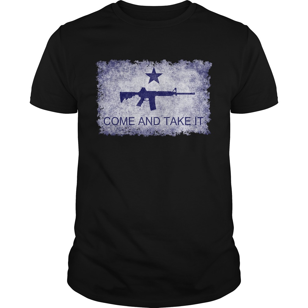 Come And Take It flag with AR15 guys tee