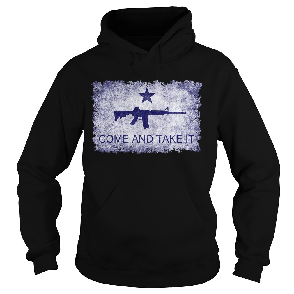 Come And Take It flag with AR15 hoodie