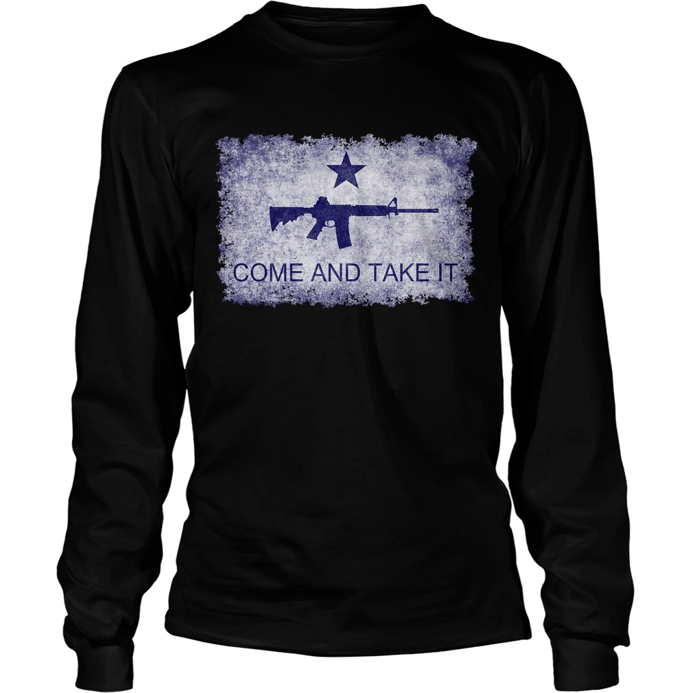 Come And Take It flag with AR15 longsleeve tee