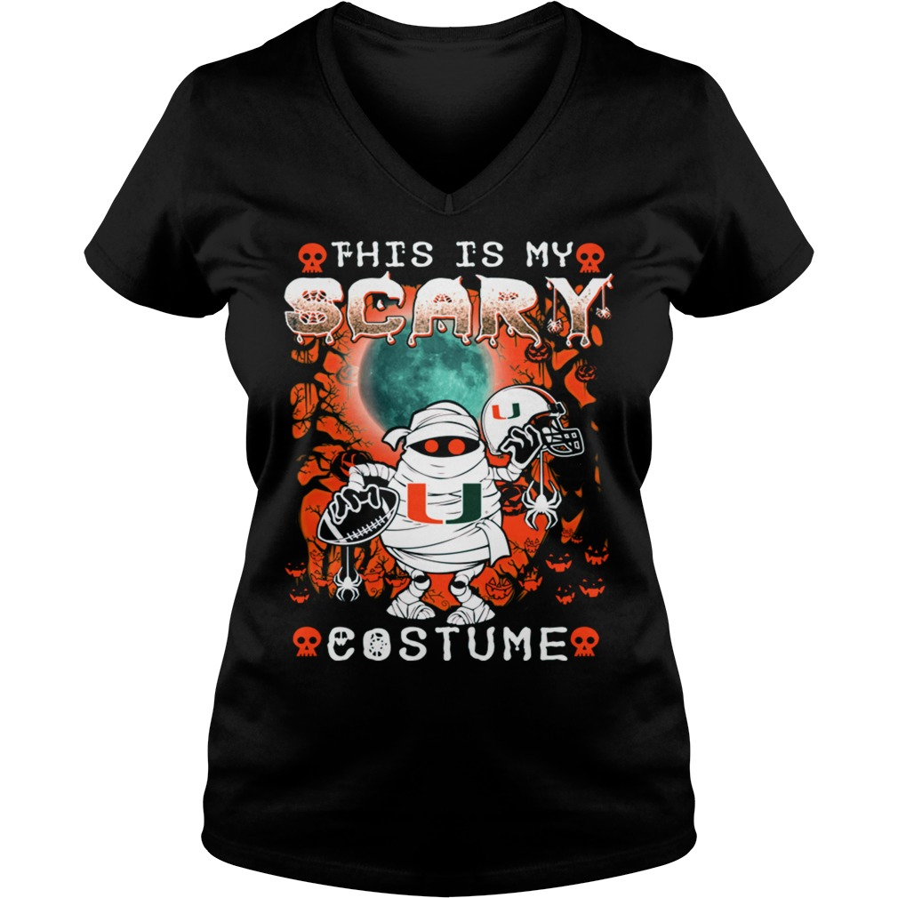 tank top this is my scary costume halloween ladies v neck - Scary Halloween Shirts