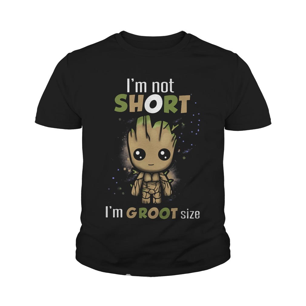 im not short im groot size youth tee
