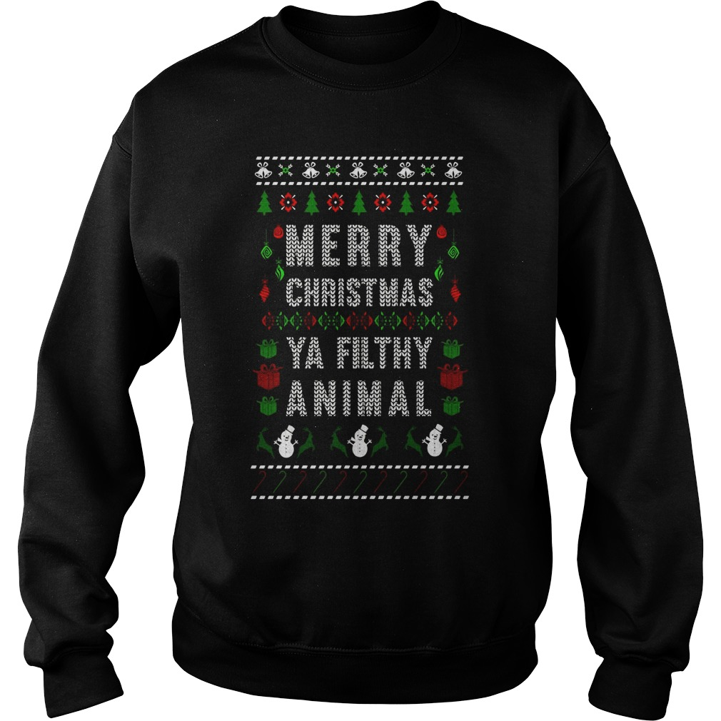Merry Christmas Funny Joke Filthy Animal Sweater
