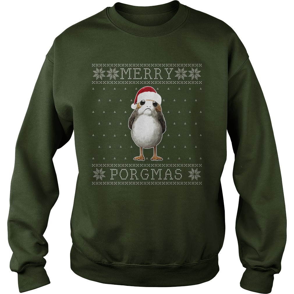 merry porgmas christmas porg knit pattern star wars sweater