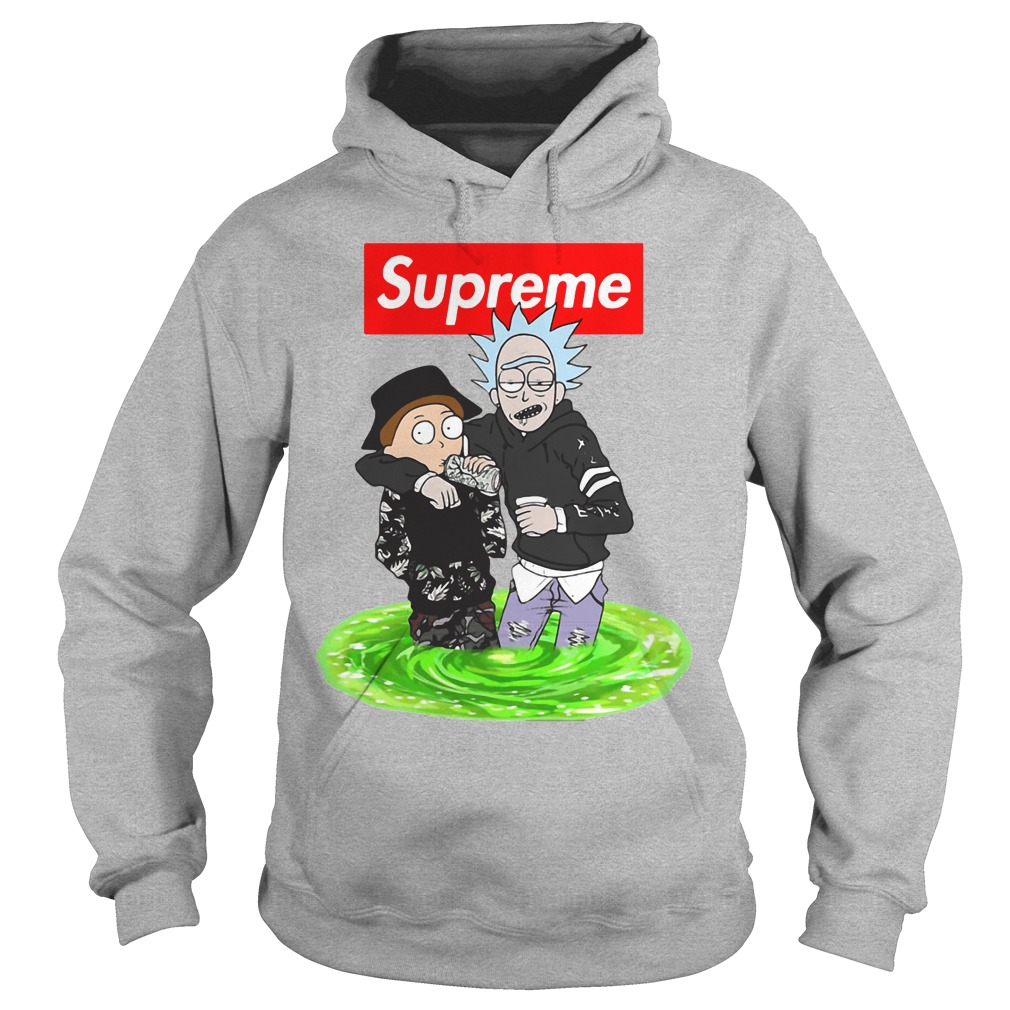 Supreme Style Rick And Morty Shirt, Hoodie, Tank Top And V -1465