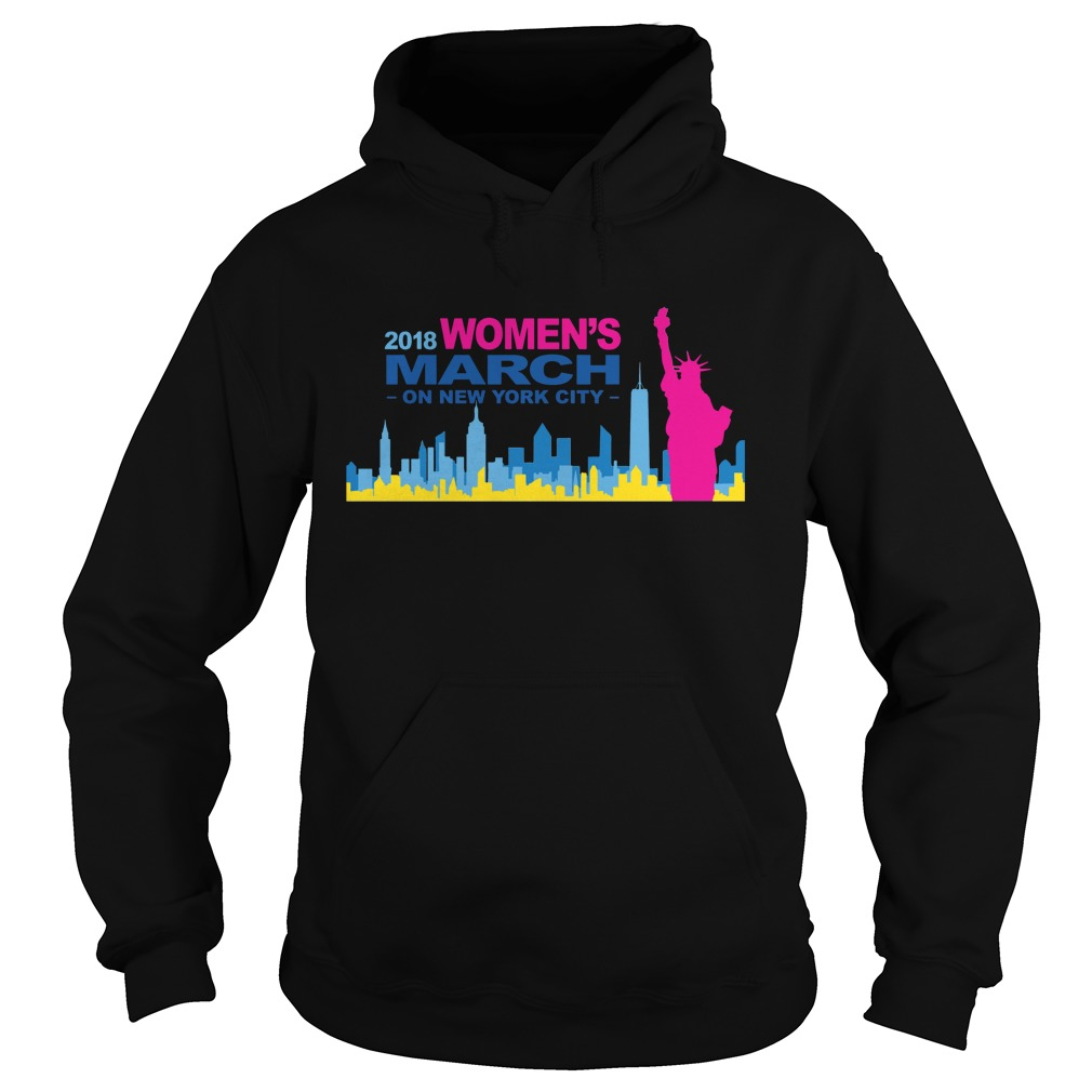 Official 2018 Womens March on New York city hoodie