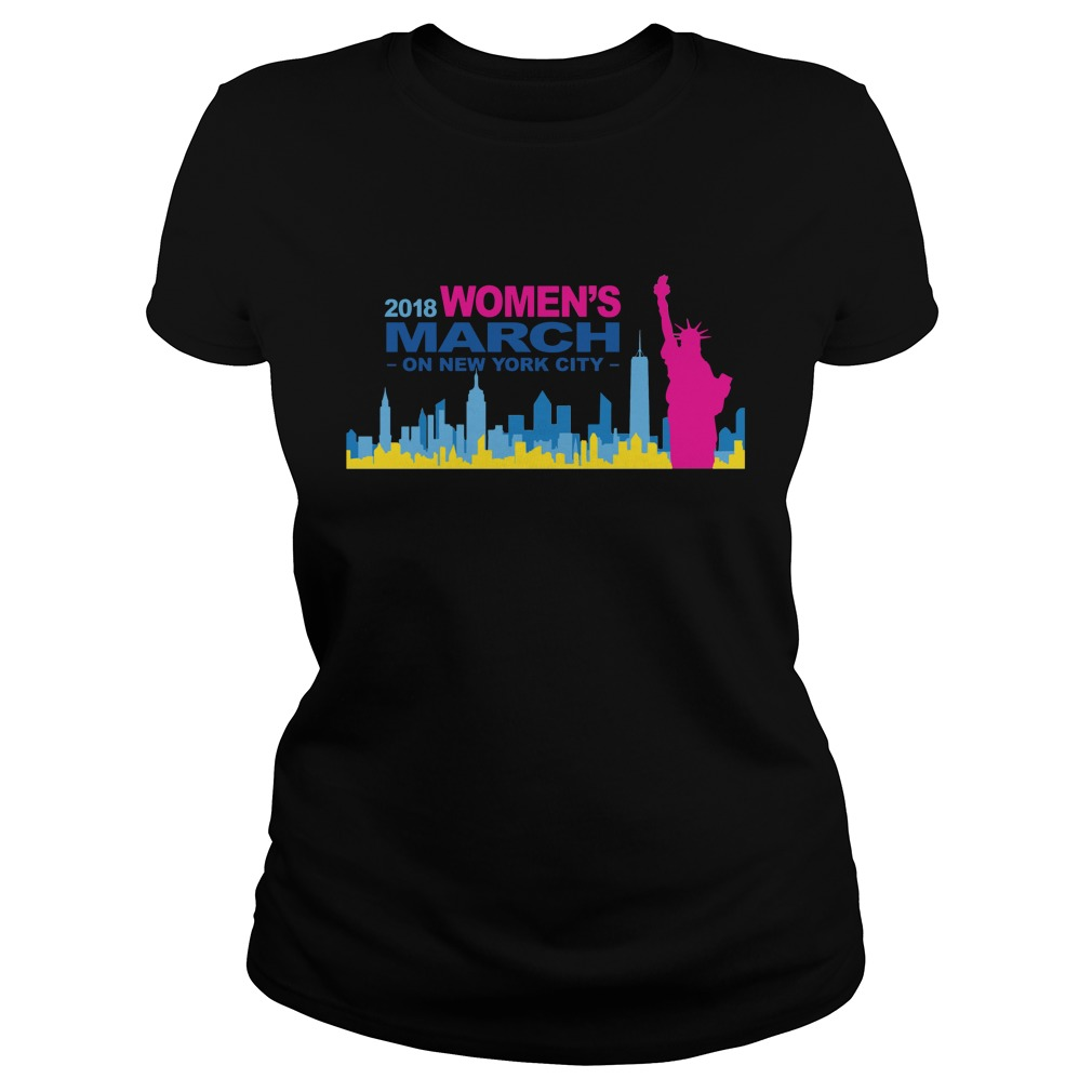 Official 2018 Womens March on New York city ladies shirt