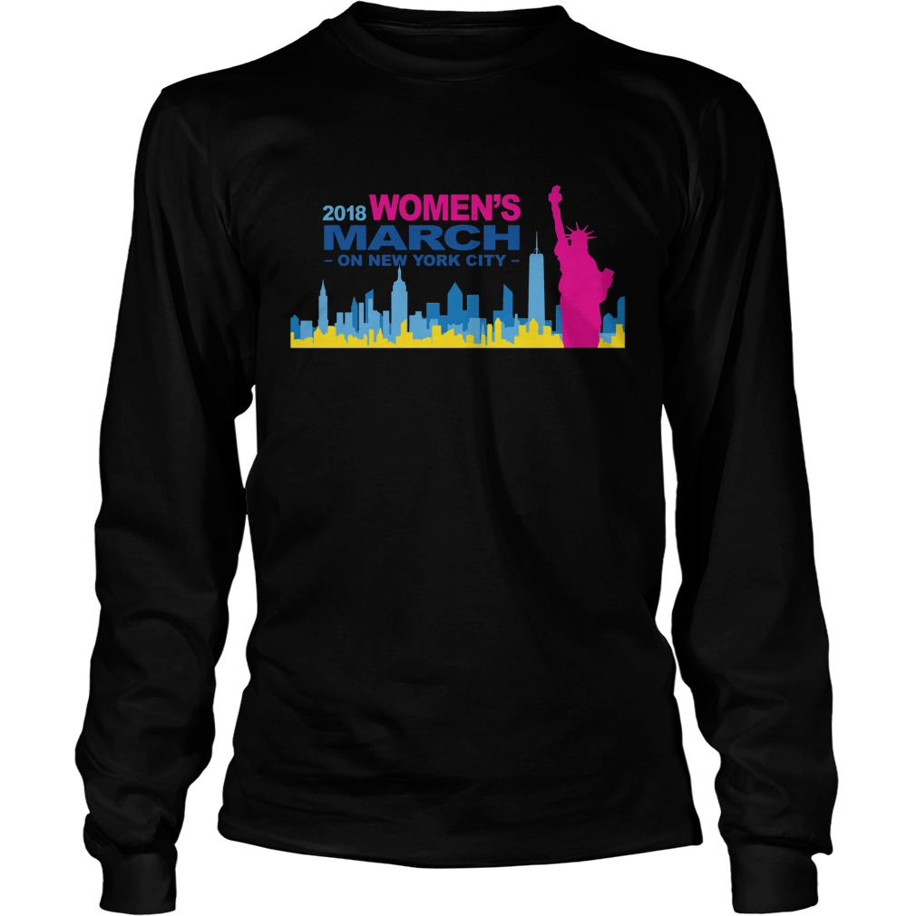 Official 2018 Womens March on New York city longsleeve shirt