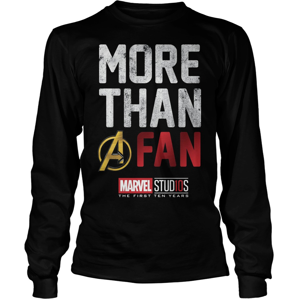 Marvel Studios Ten Years More Than A Fan longsleeve shirt