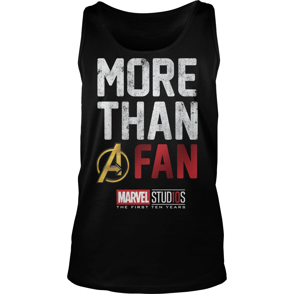 Marvel Studios Ten Years More Than A Fan tank top