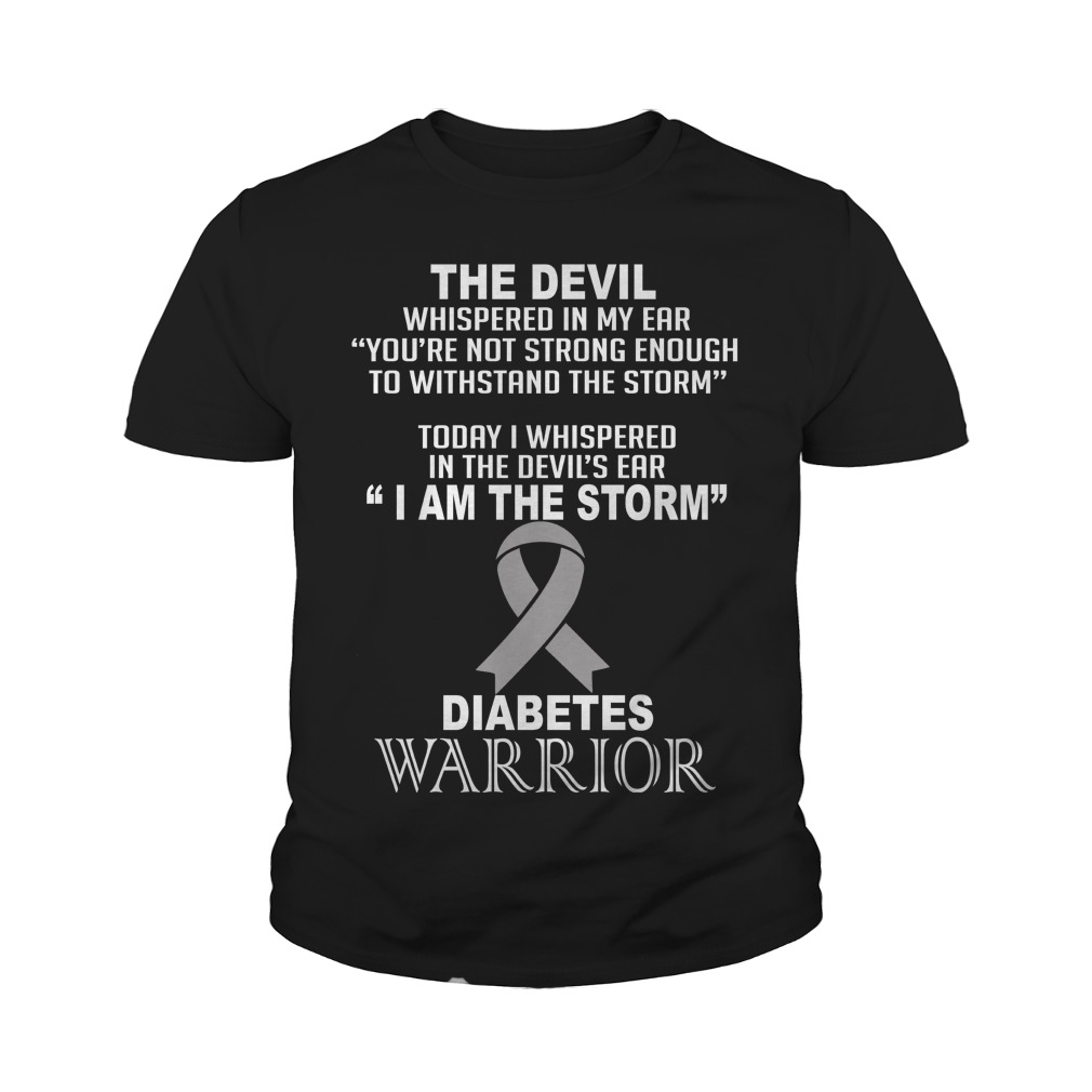 Official I Am The Storm Diabetes Warrior youth shirt