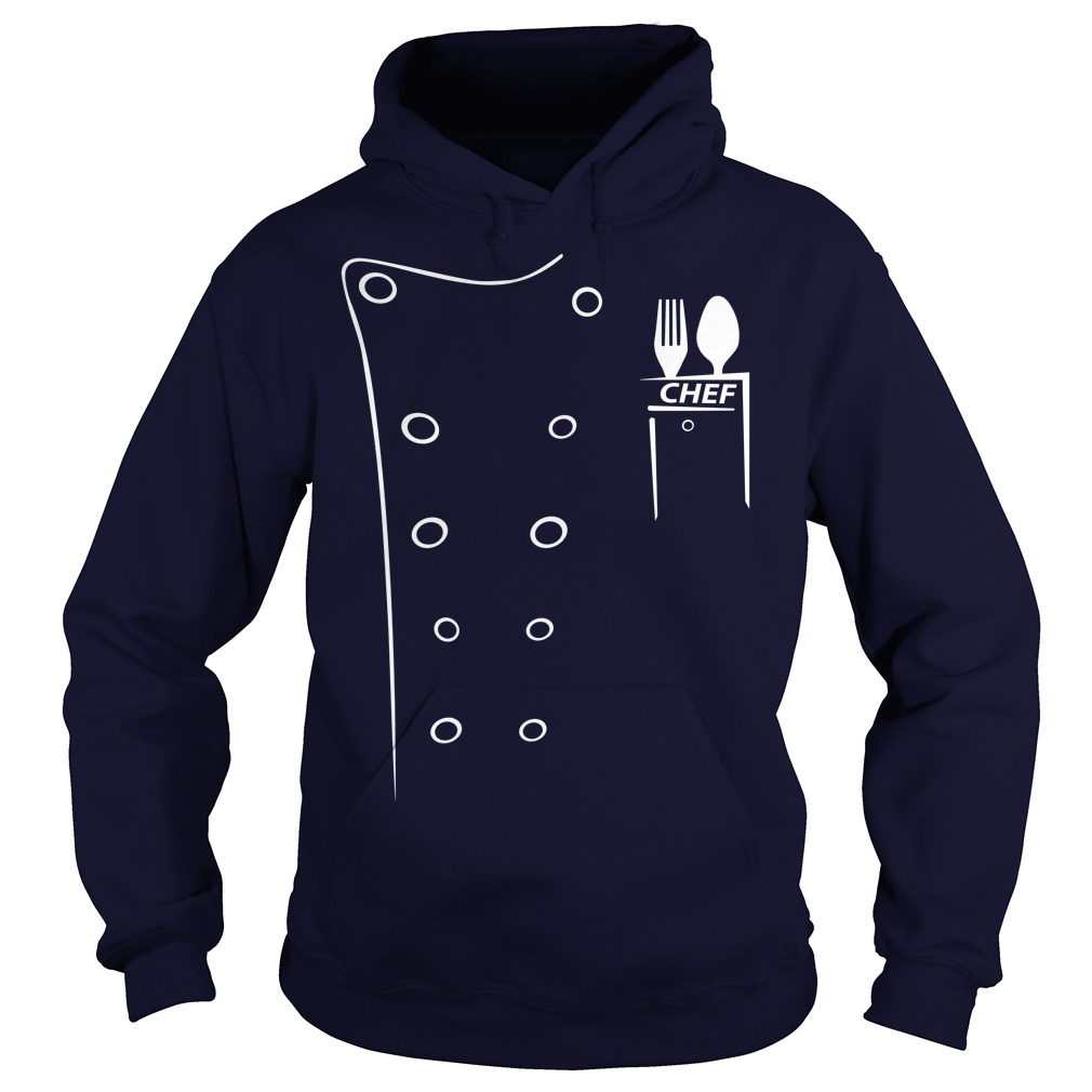 Executive Chef Coats With Black Contrast hoodie