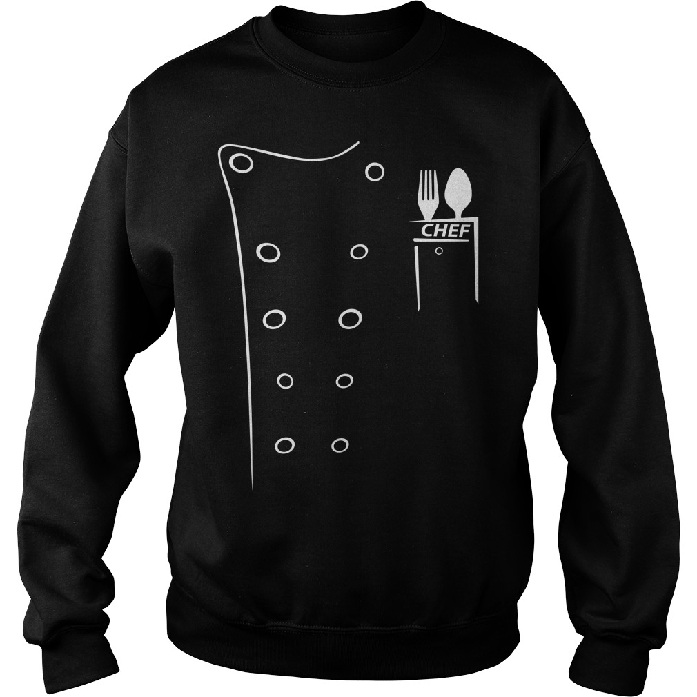 Executive Chef Coats With Black Contrast sweat shirt