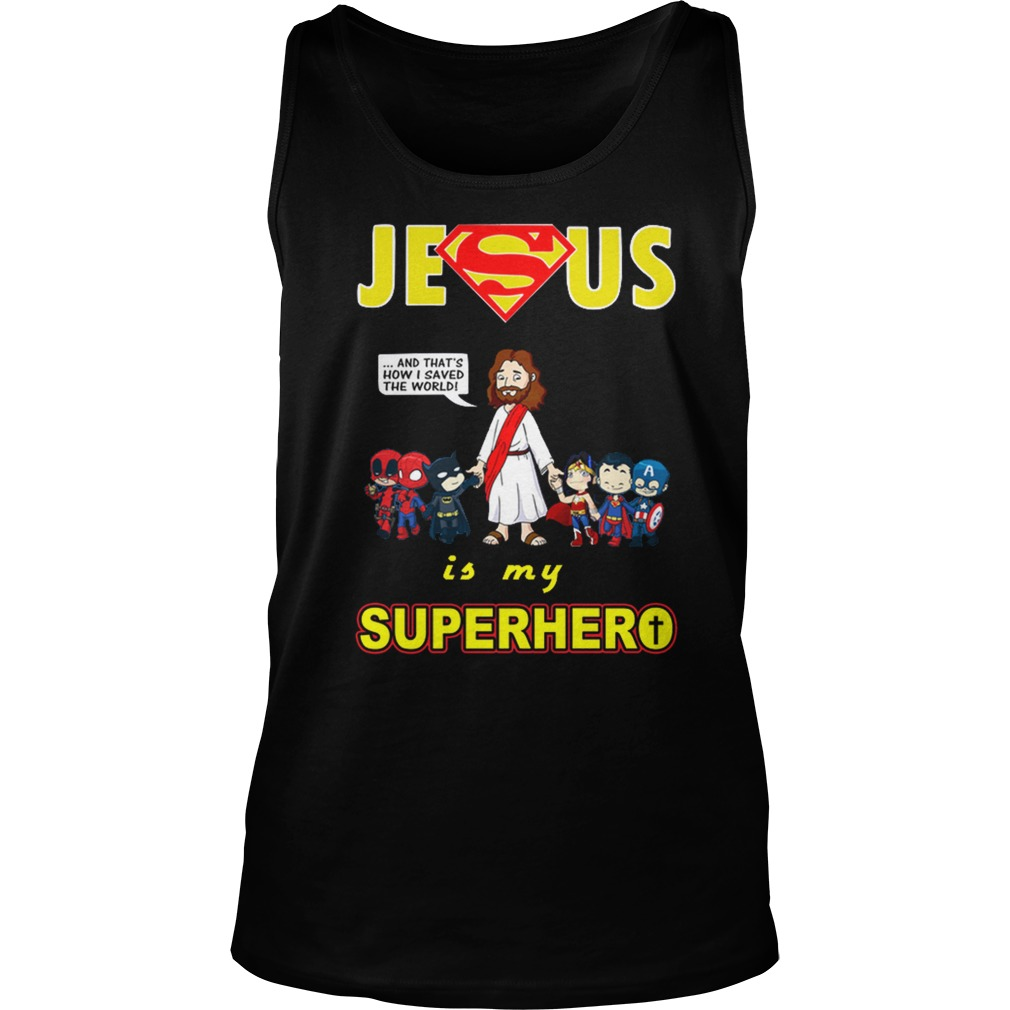 Jesus is my Superhero tank top