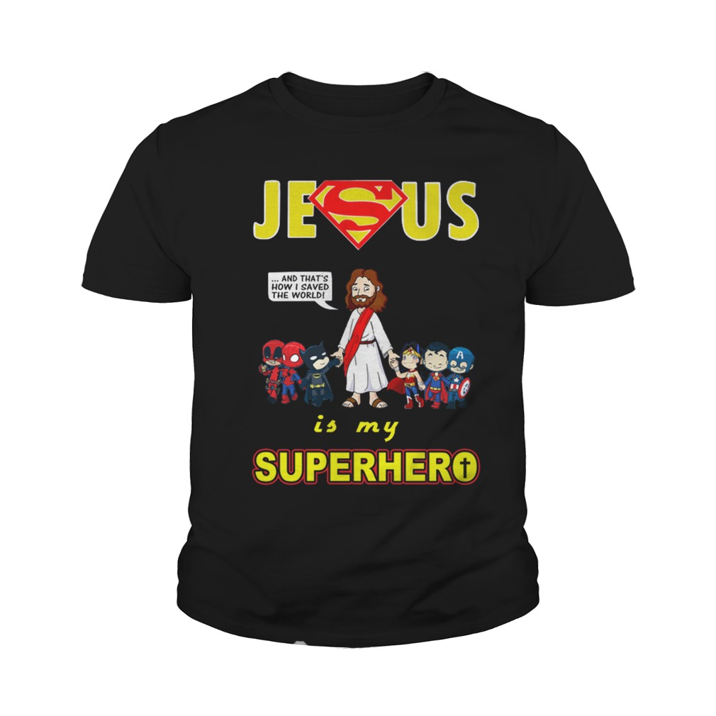 Jesus is my Superhero youth shirt
