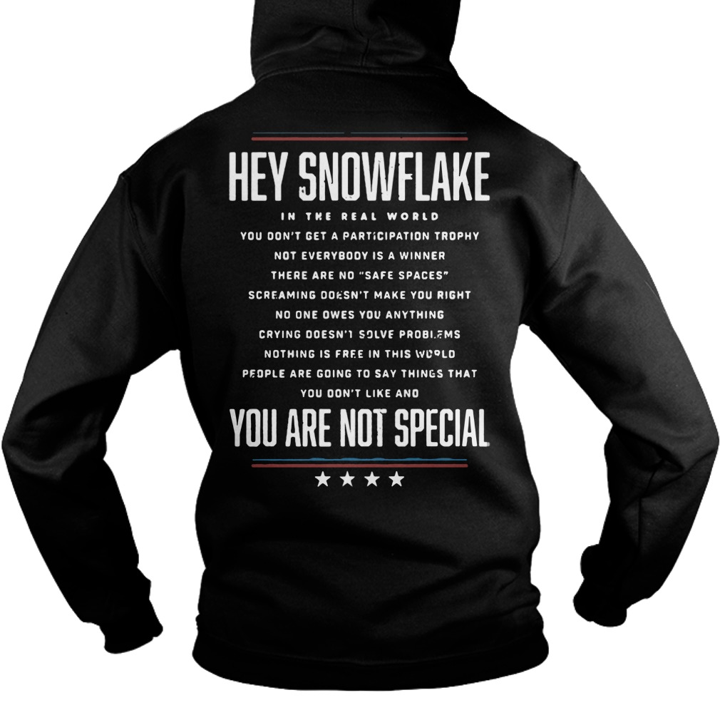 Hey Snowflake You Are Not Special hoodie