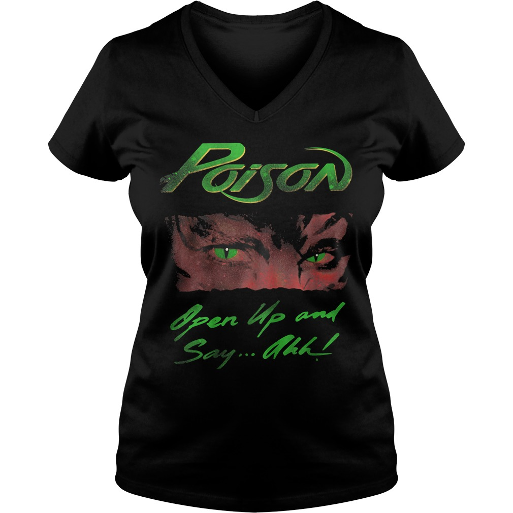 Junior Open Up and Say Ahh Poison Ladies v neck