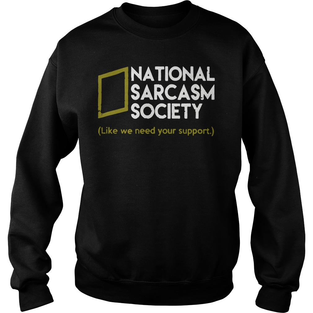 National Sarcasm Society sweater