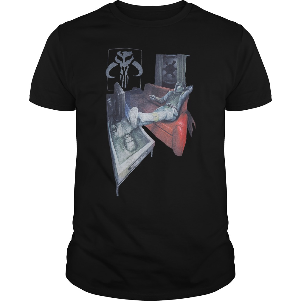 Boba Fett Carbonite Han Solo Coffee Table Star Wars Guys Shirt