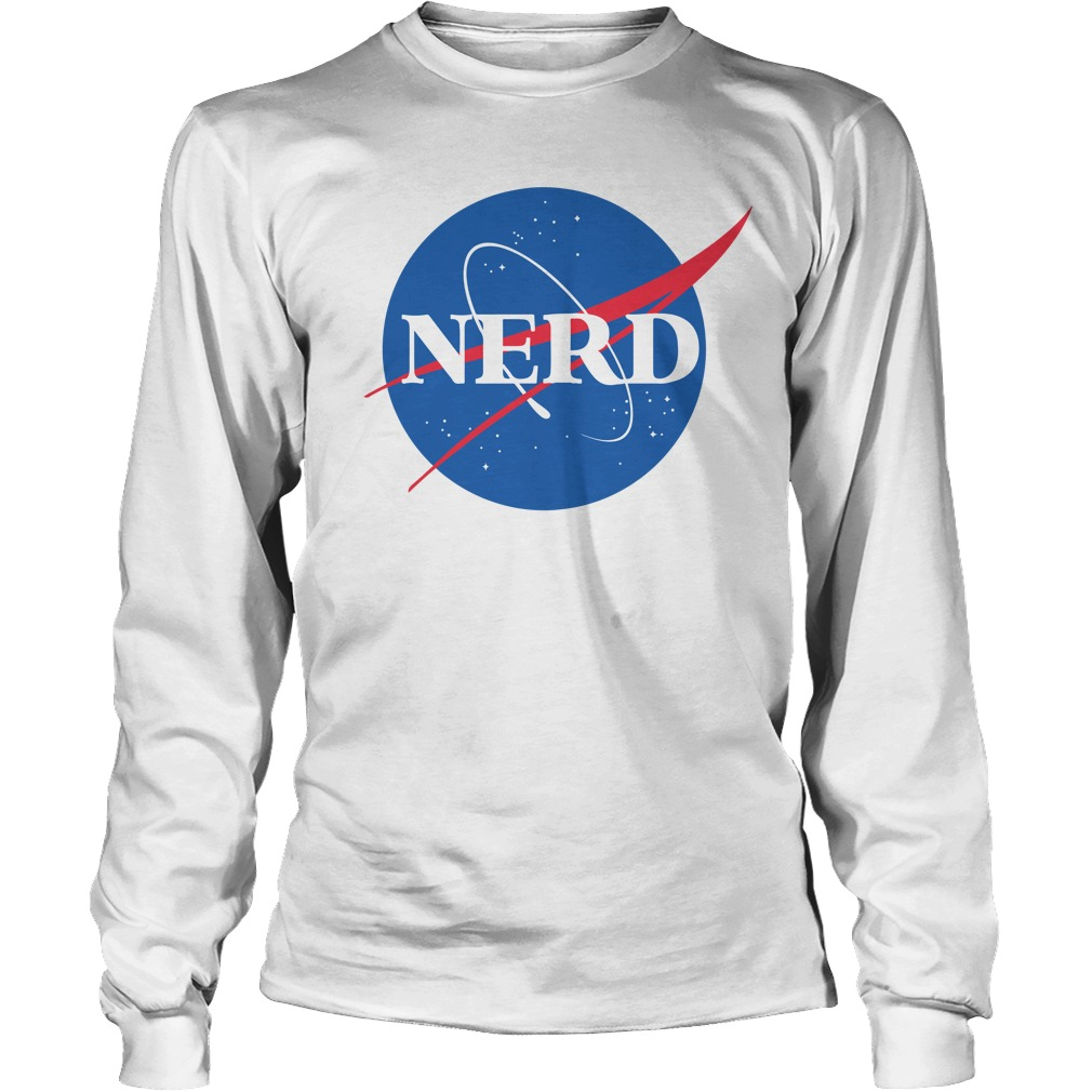 Official Nerd NASA Logo shirtOfficial Nerd NASA Logo longsleeve shirt