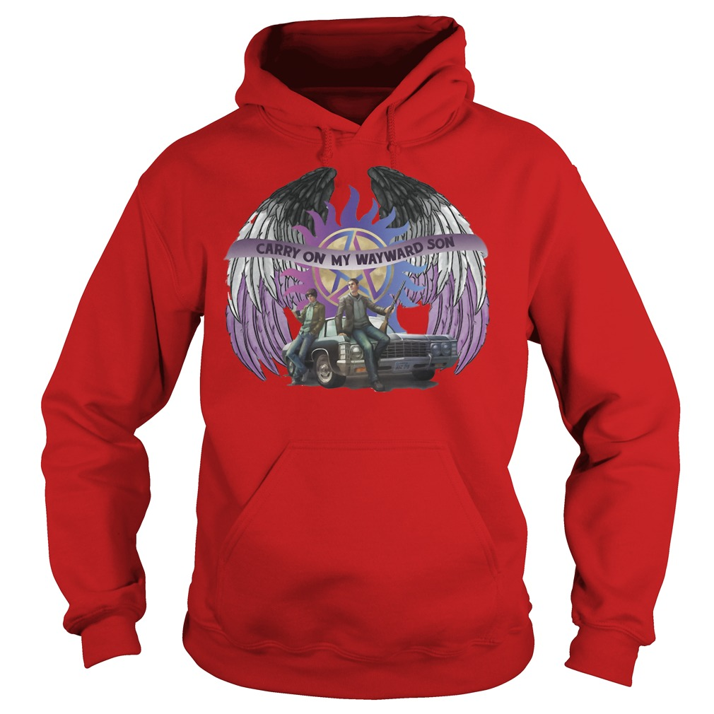Winchester Dean and John crazy on my wayward son Hoodie