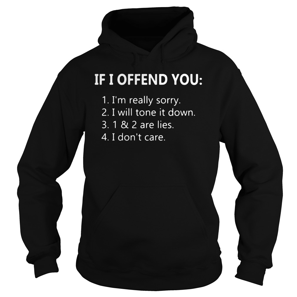 3 Things If I Offend You Hoodie