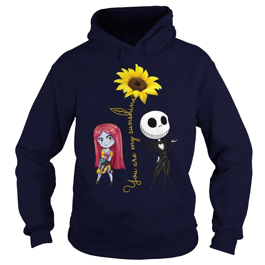 Jack and Sally: You Are My Sunshine Sunflower Hoodie