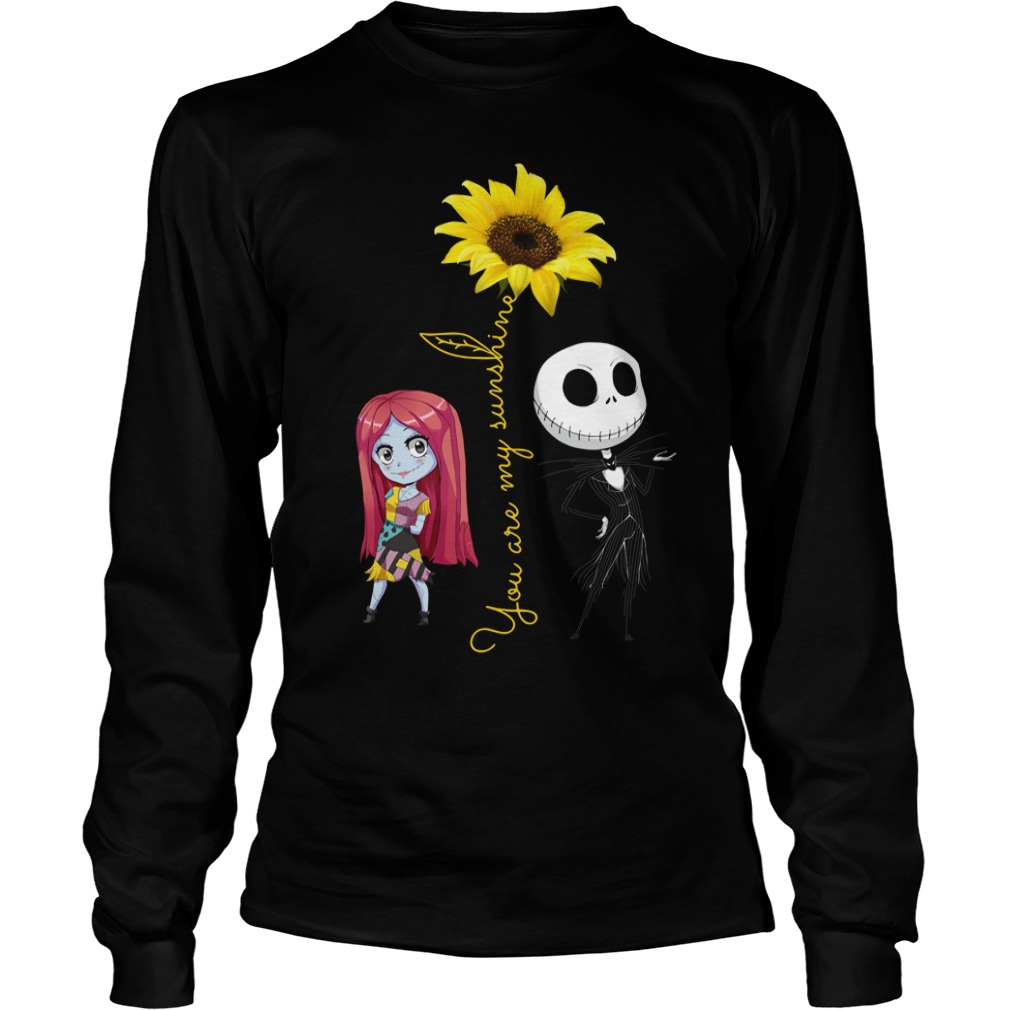 Jack and Sally: You Are My Sunshine Sunflower Longsleeve Shirt