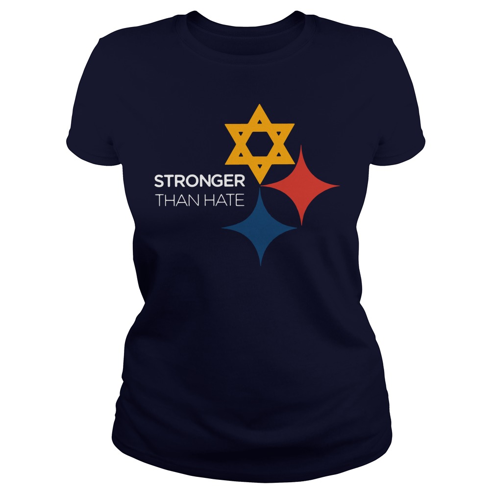Official Pittsburgh Penguins Stronger Than Hate Ladies shirt