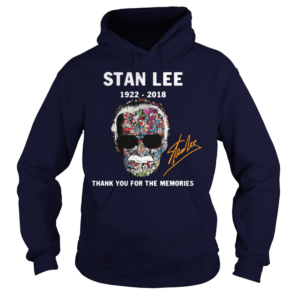 Stan Lee Thank You for The Memories 1922-2018 Hoodie