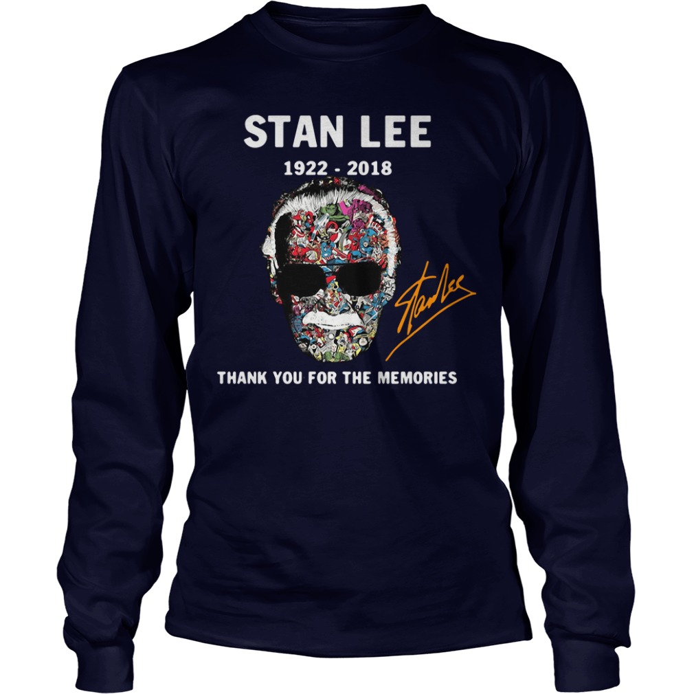 Stan Lee Thank You for The Memories 1922-2018 Longsleeve shirt