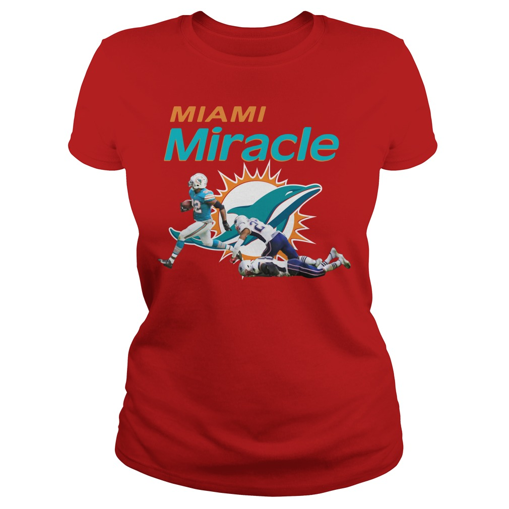 The Miami Miracle Kenyan Drake Beats The Patriots Ladies Shirt