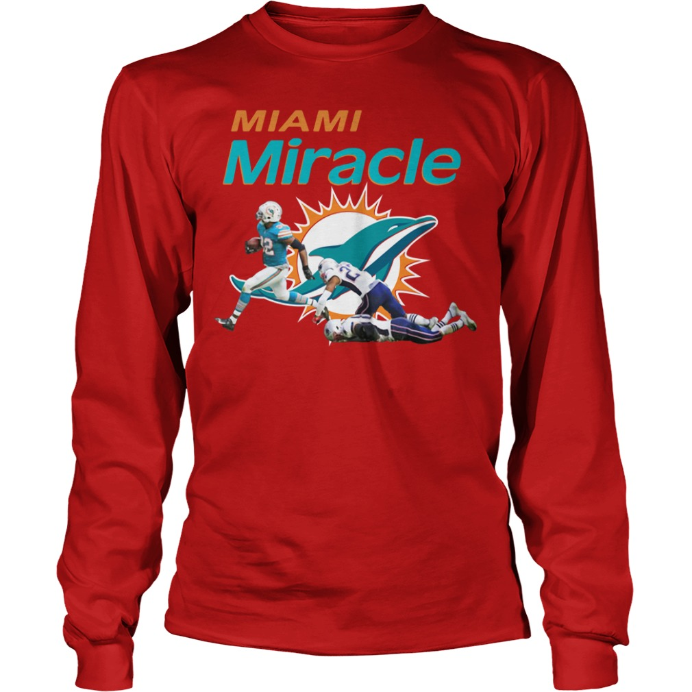 The Miami Miracle Kenyan Drake Beats The Patriots Longsleeve Shirt