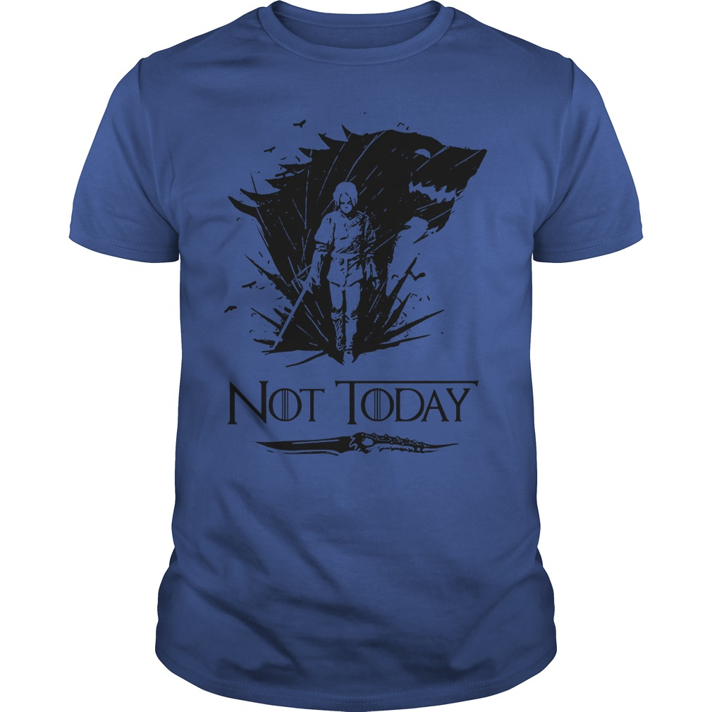 Game Of Thrones Arya Stark Catspaw Valyrian Steel Dagger Not Today Hoodie