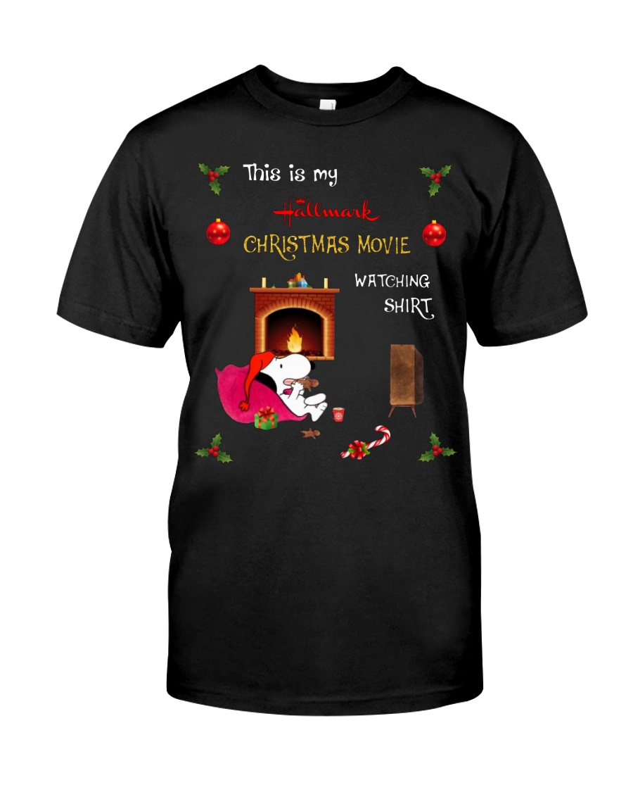 Snoopy this is my Hallmark Christmas movie watching shirt